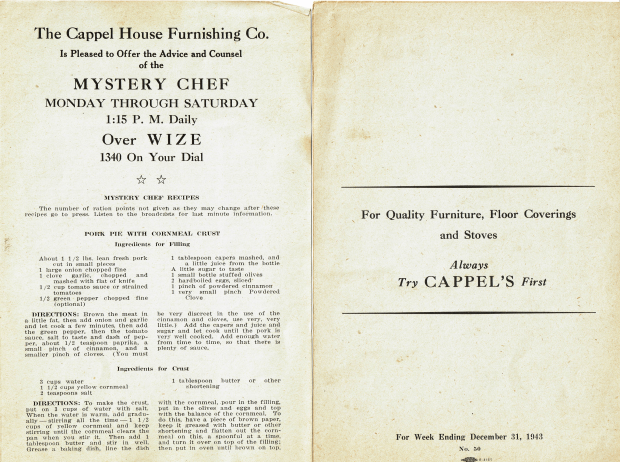 Mystery Chef Radio Recipes