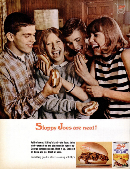 1960sLibbysSloppyJoeAdLifeMag