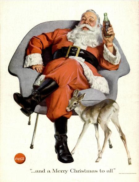 CocaColaSantaAd1956