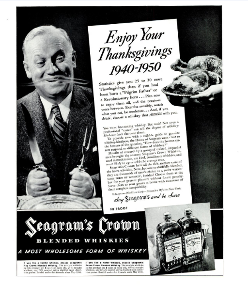 SeagramsThanksgivingLifeMag1930s