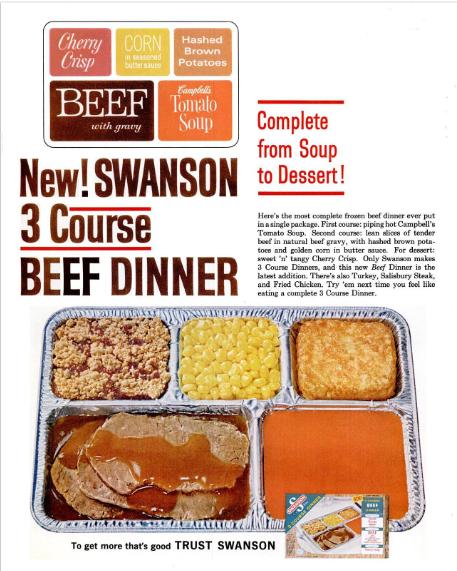 1960sSwansonTVdinnerAdLifeMag