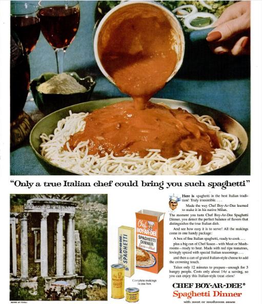 ChefBoyArDeeSpaghettiDinnerAd1956