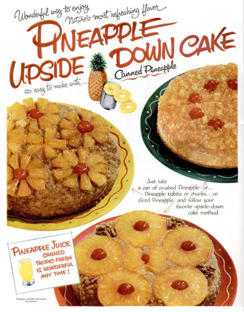 PineappleUpsideDownCakePineappleAdFeb141955