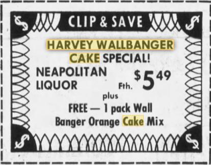HarveyWallbangerCakeAd1973