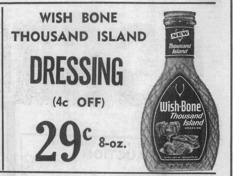 1968 WishboneThousandIslandGroceryAd